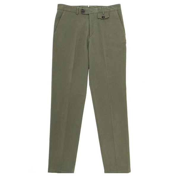 Oliver Spencer Cheviot Fishtail Trouser Green - Burrows and Hare