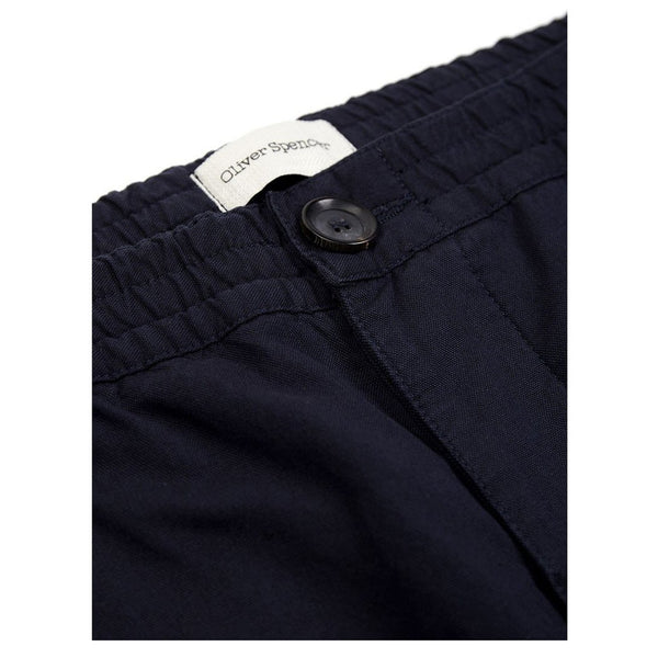 Oliver Spencer Drawstring Trouser Hock Navy - Burrows and Hare