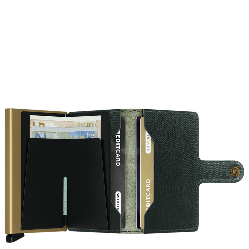 SECRID Rango Green Gold RFID Miniwallet - Burrows and Hare