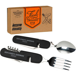 Gentlemen's Hardware Separating Stainless Steel Camping Cutlery - Burrows and Hare