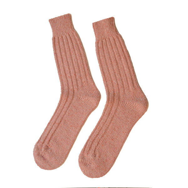 Burrows and Hare Donegal Socks - Pink - Burrows and Hare