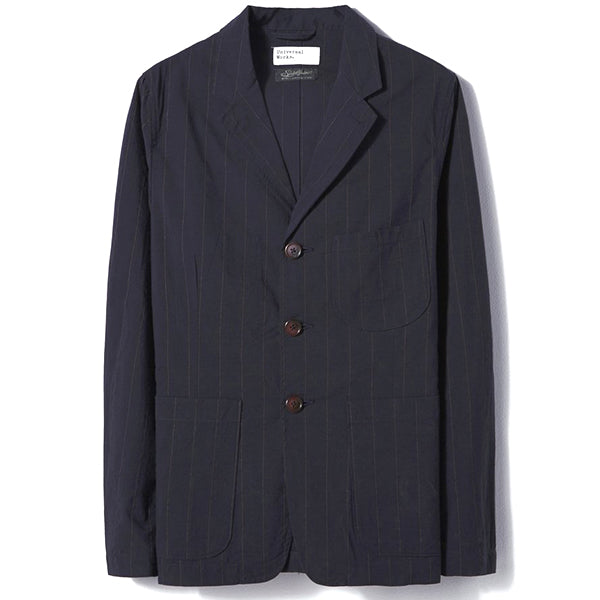 Universal Works Raised Pinstripe Suit Jacket Navy