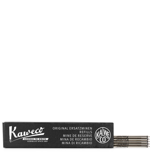 Kaweco Ballpen Refill Pack Fine Point (0.8mm) Black - Burrows and Hare