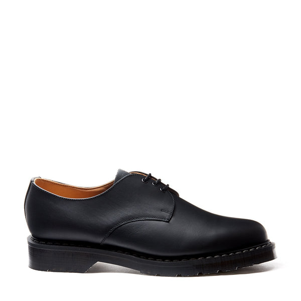 Solovair Gibson Shoe - Black Greasy Solovair Original Sole Smoke - Burrows and Hare