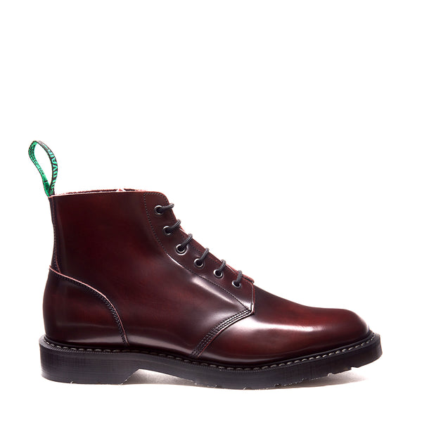 Solovair 6 Eye Astronaut Boot - Burgundy - Burrows and Hare