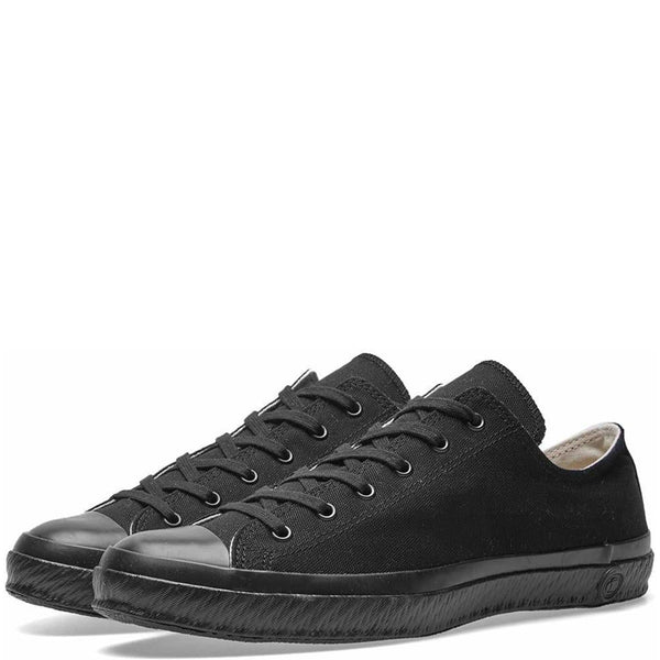 Shoes Like Pottery Handmade Japanese Full Black Low Canvas Trainer