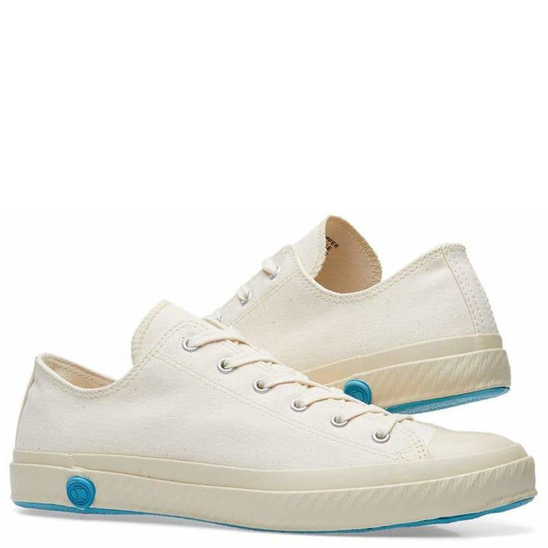 Shoes Like Pottery Handmade Japanese Ecru Low Canvas Trainer - Burrows and Hare