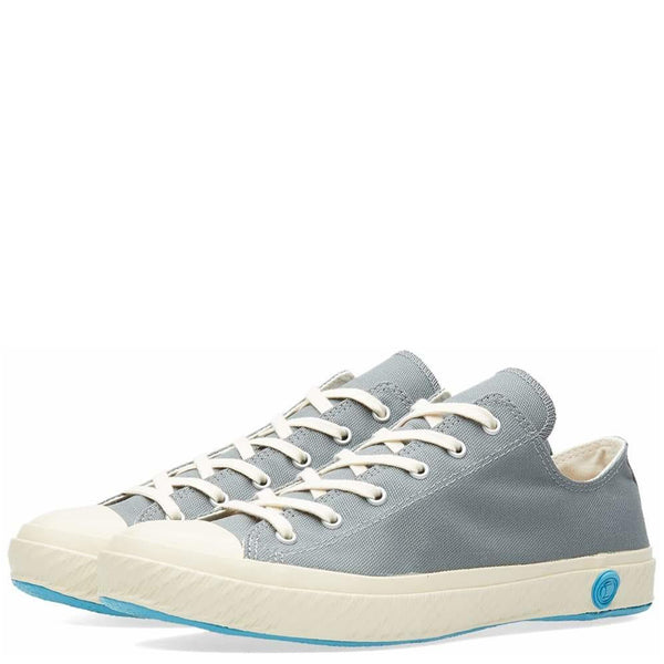 Shoes Like Pottery Handmade Japanese Low Canvas Trainer - Grey - Burrows and Hare