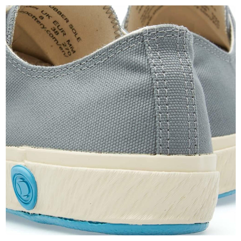 Shoes Like Pottery 01JP Handmade Low Canvas Trainer - Grey - Burrows and Hare