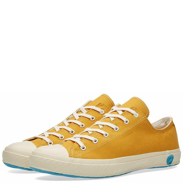 Shoes Like Pottery Handmade Japanese Mustard Low Canvas Trainer