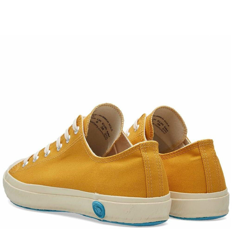 Shoes Like Pottery Handmade Japanese Low Canvas Trainer - Mustard - Burrows and Hare