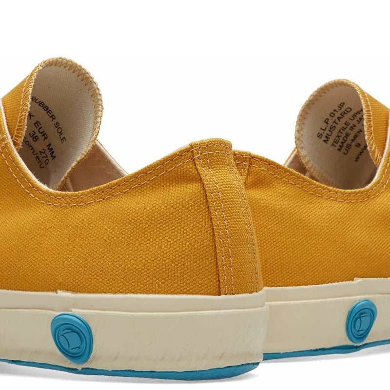 Shoes Like Pottery Handmade Japanese Mustard Low Canvas Trainer - Burrows and Hare