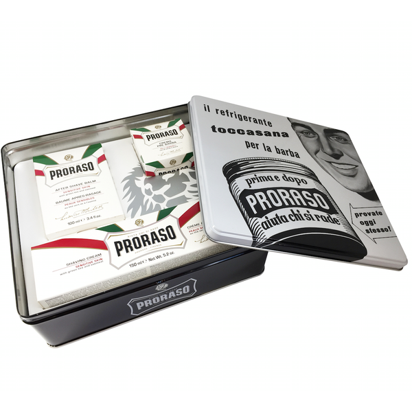 Proraso Tinned Vintage Shaving / Grooming Gift Collection - Sensitive - Burrows and Hare