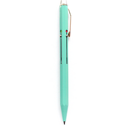 Hightide Japanese Metal 4 Colour Changing Pen - Mint Green - Burrows and Hare