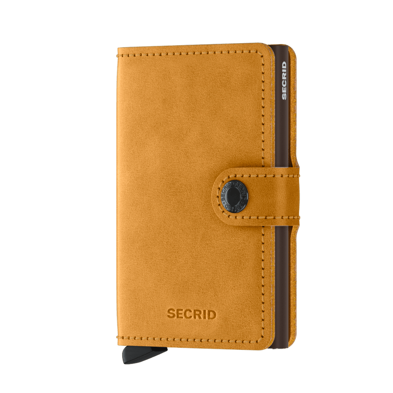 Secrid Miniwallet Vintage Ochre - Burrows and Hare