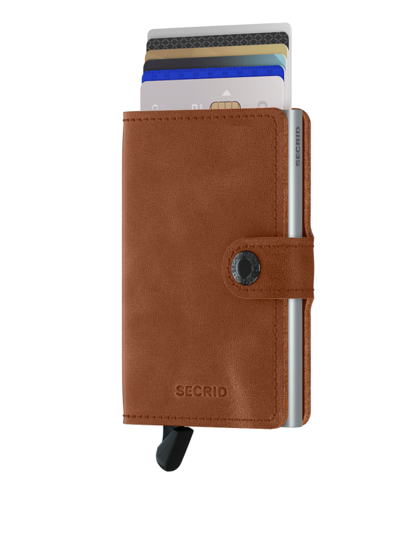 SECRID RFID Miniwallet Vintage - Cognac / Silver - Burrows and Hare
