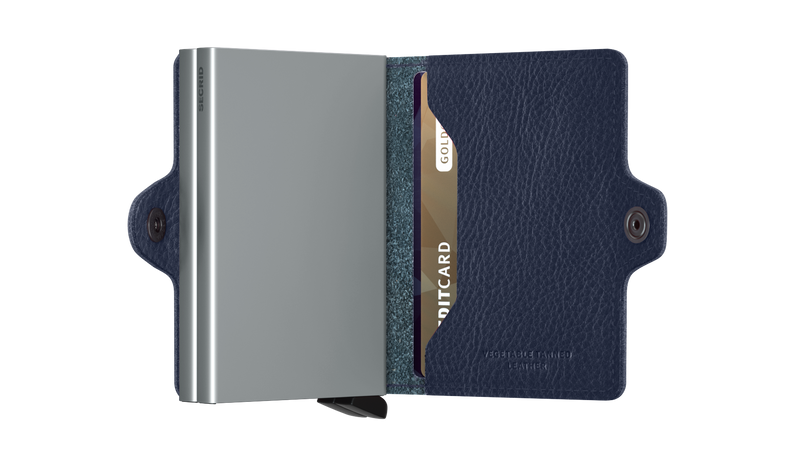 SECRID RFID Twin Wallet - Veg Navy / Silver - Burrows and Hare