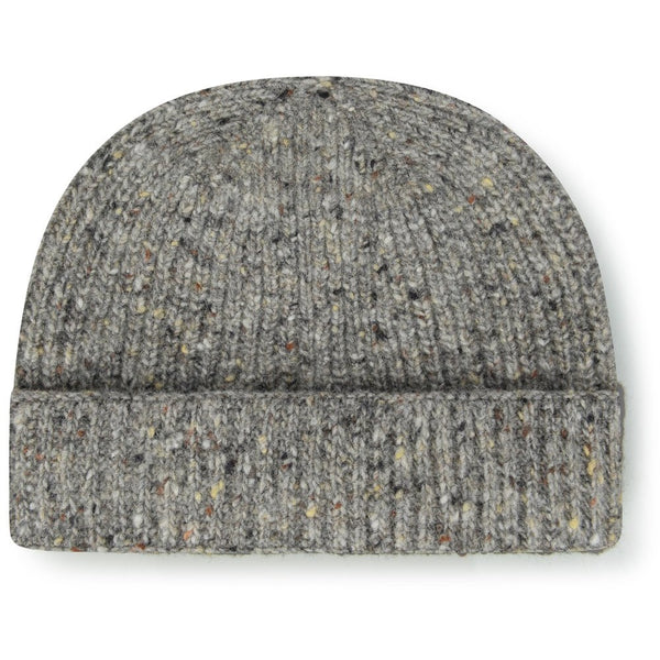 Burrows & Hare English Made Irish Donegal Merino Wool Grey Beanie Hat - Burrows and Hare