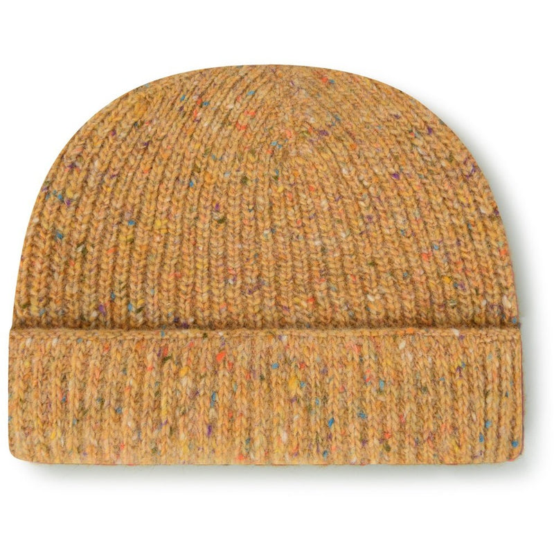 Burrows & Hare Merino Donegal Wool Beanie Hat - Mustard - Burrows and Hare