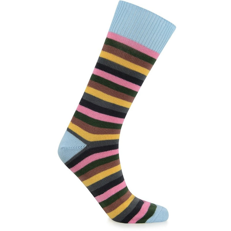 Burrows & Hare Stripe Sock - Light Blue - Burrows and Hare