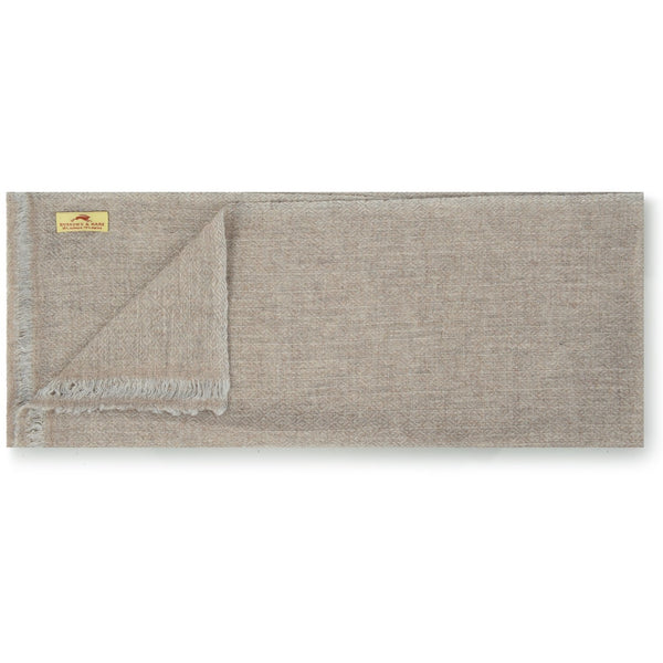 Burrows & Hare Cashmere/Merino Scarf - Oatmeal Diamond - Burrows and Hare