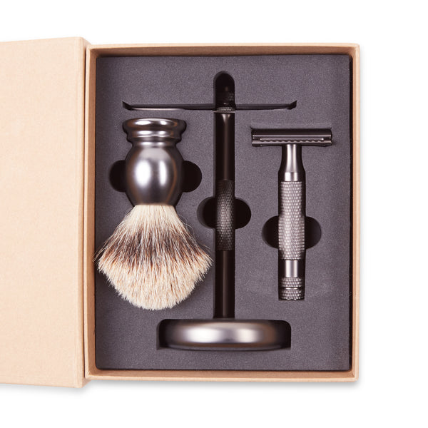 Burrows & Hare Shaving Stand Set - Matte - Burrows and Hare