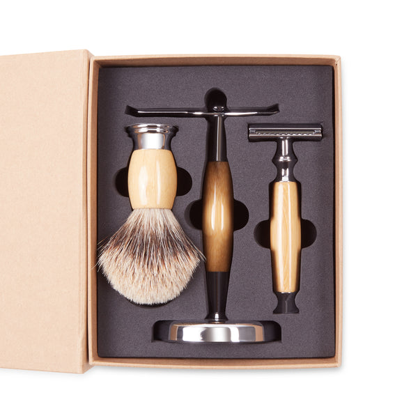 Burrows & Hare Shaving Stand Set - Wooden