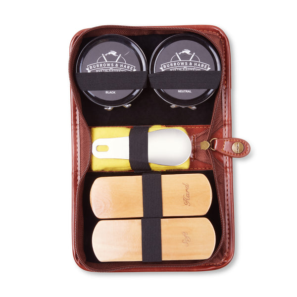 Burrows & Hare Travel Shoe Shine Kit - Burrows and Hare
