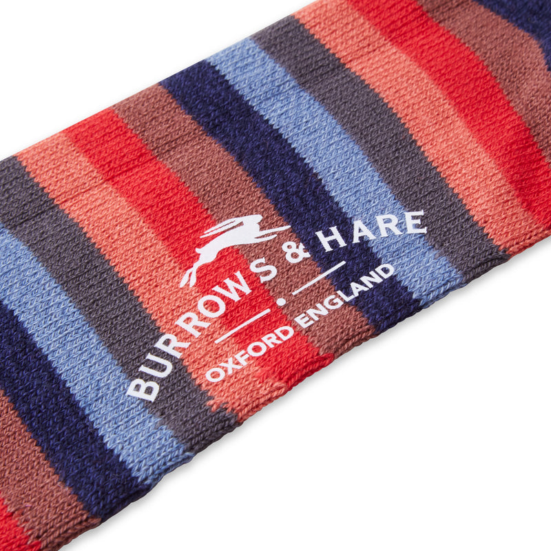 Burrows & Hare Multistripe Socks - Black - Burrows and Hare