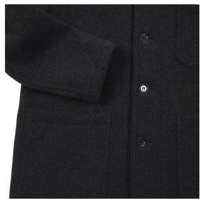 Vetra Double Face Workwear Melton Jacket - Anthracite - Burrows and Hare