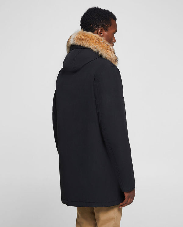 Woolrich Arctic Parka Fur - Black - Burrows and Hare