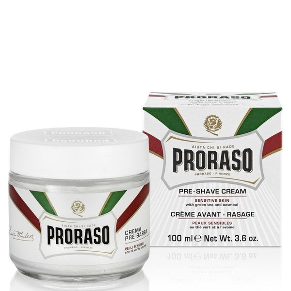Proraso Refreshing & Softening Developed Sensitive Skin Pre-Shave Cream - Oatmeal - Burrows and Hare