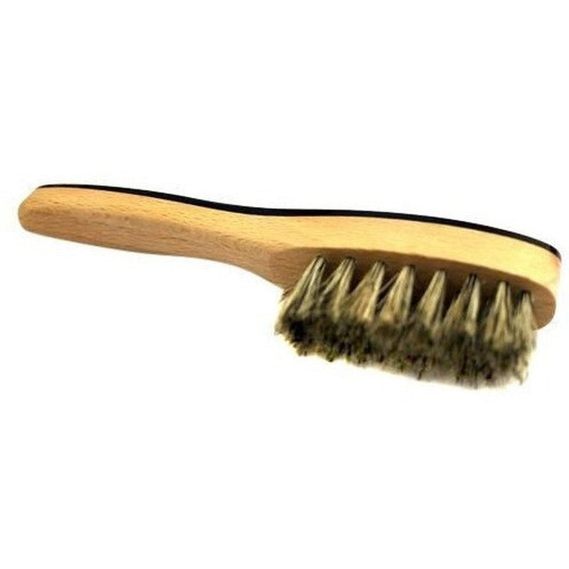 Burrows and Hare Ox Horn Topped & Wild Boar Bristled Pocket Size Beard Brush - Burrows and Hare