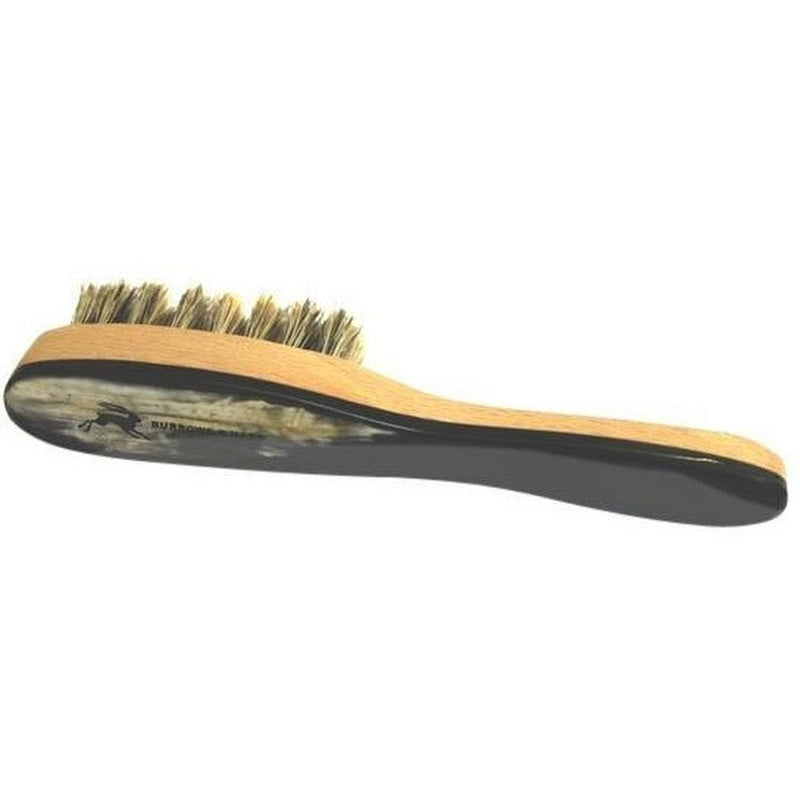 Burrows & Hare Ox Horn Topped & Wild Boar Bristled Pocket Size Beard Brush - Burrows and Hare
