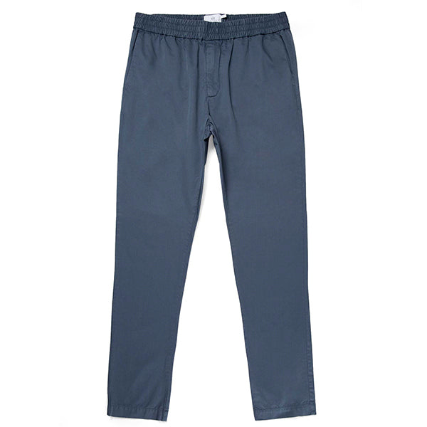 Sunspel Drawstring Trousers - Blue Slate - Burrows and Hare
