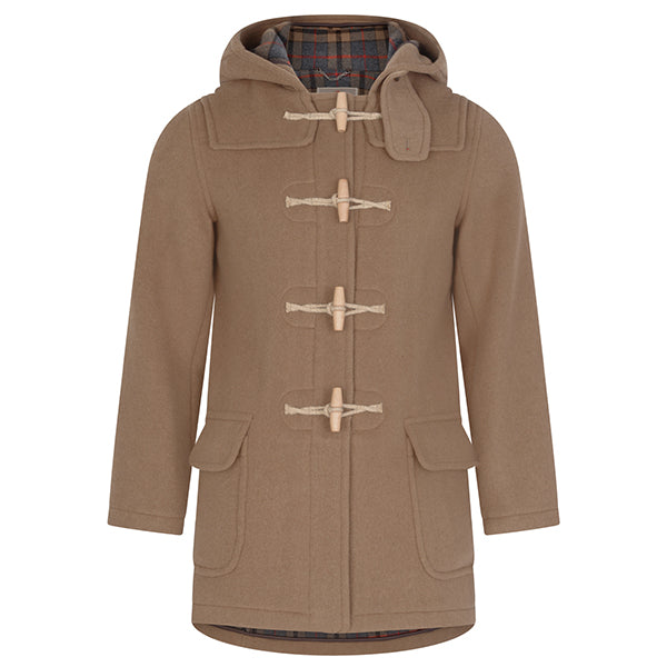 Burrows & Hare Brown Water Repellent Wool Duffle Coat - Burrows and Hare