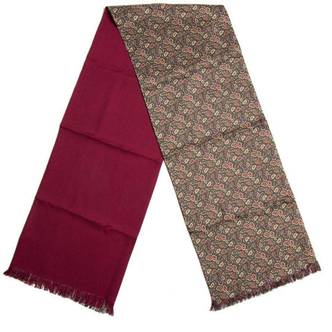 Burrows & Hare English Made Racing Green Wool & Silk Prince Paisley Scarf-Scarves-Burrows and Hare-Burrows and Hare