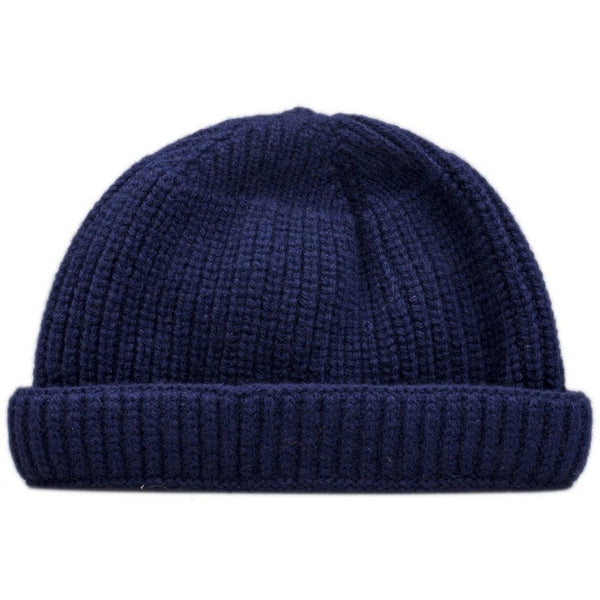 Burrows & Hare Lambswool Beanie Hat - Navy - Burrows and Hare