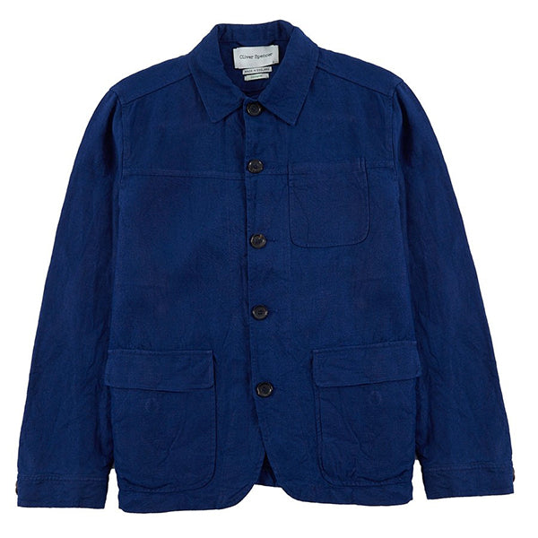 Oliver Spencer Cowboy Jacket - Cobalt Blue