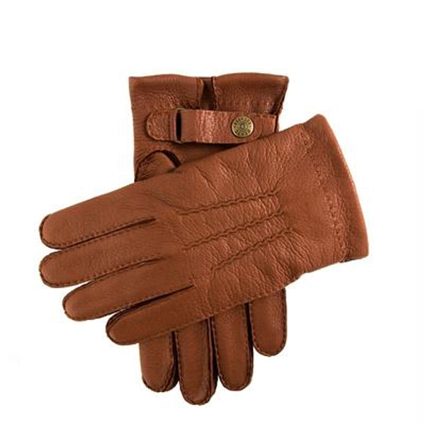DENTS Canterbury Cashmere Lined Deerskin Leather Gloves - Havana