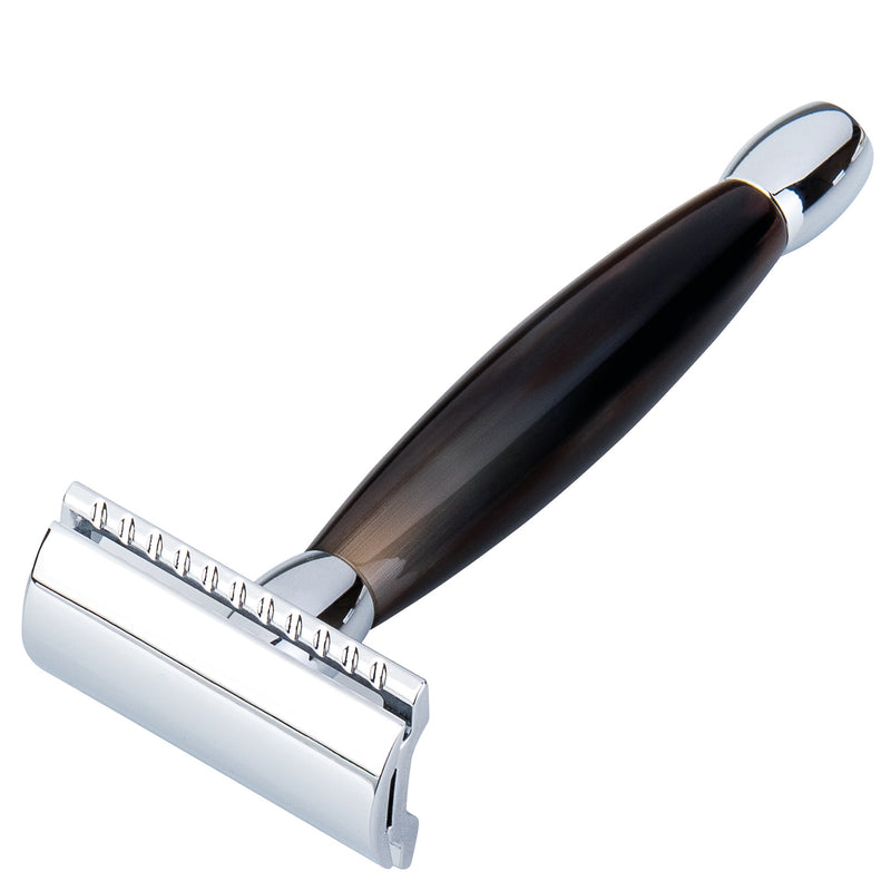 Merkur Horn Handled Safety Razor - Burrows and Hare