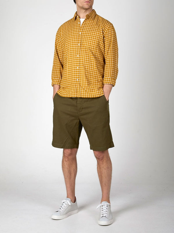 Oliver Spencer Drawstring Short Olive Green - Burrows and Hare