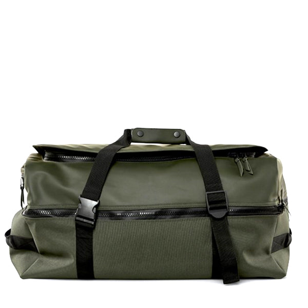 Rains Unisex Duffel Backpack - Green - Burrows and Hare