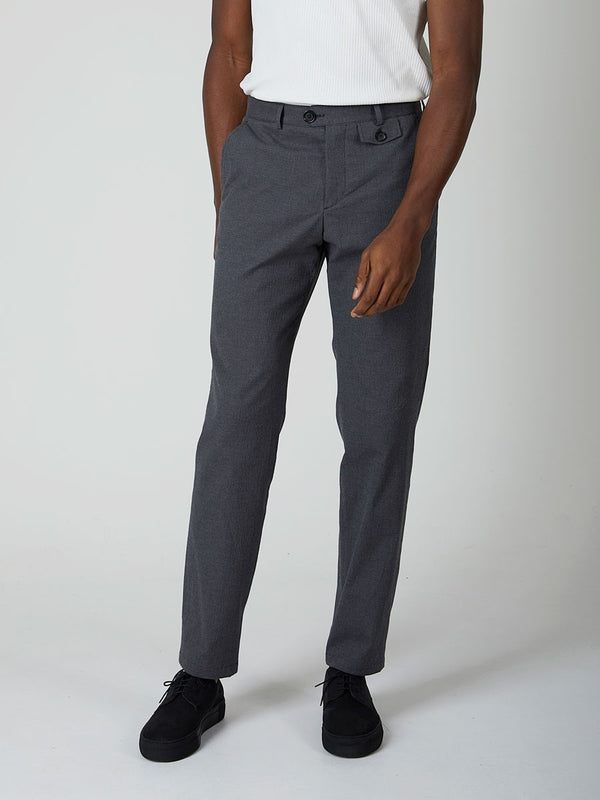 Oliver Spencer Fishtail Trouser - Charcoal - Burrows and Hare