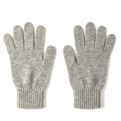 Burrows and Hare 100% Cashmere Gloves - Grey - Burrows and Hare
