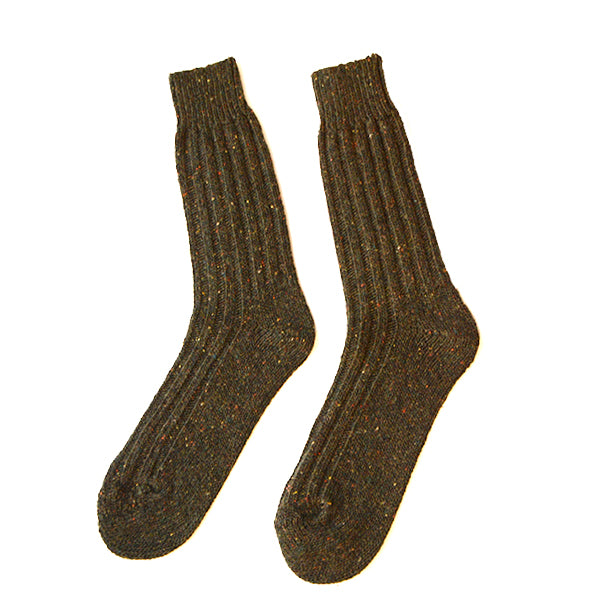 Burrows and Hare Donegal Socks - Forest - Burrows and Hare