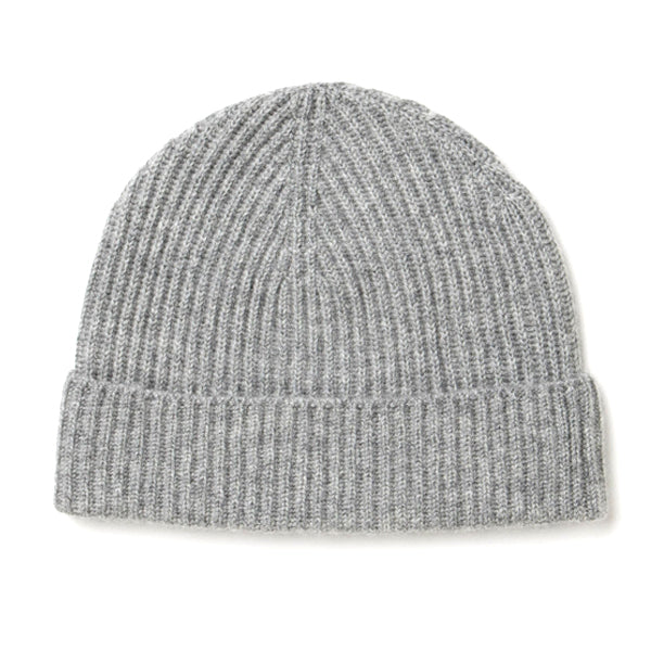 Burrows and Hare 100% Cashmere Beanie - Grey - Burrows and Hare