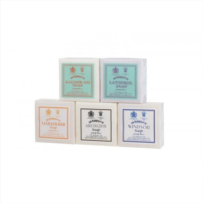 D.R. Harris Guest Soap x5 Assorted Collection - Burrows and Hare
