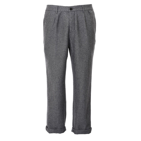 A.B.C.L Herringbone Wool Trousers - Burrows and Hare