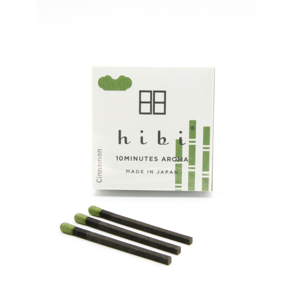 Hibi 10 Minutes Aroma Boxed Matchstick Incense - Cinnamon - Burrows and Hare